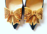 Gold Sequin Shoe Clip, Gold Shoe Clips, Gold Shoe Bows, Sequin Shoe Clips, Gold Bows, Gold Sequin, Bridal Shoe Clips, Womens Shoe Clips, Clips for Bridal Shoes, Clips for Wedding Shoes, Clips for Formal Shoes, Wedding Accessories, Bridal Accessories, Formal Accessories, Shoe Charms, Bridal Shoe Accessories, Shoe Bows, Shoe Bow Clips