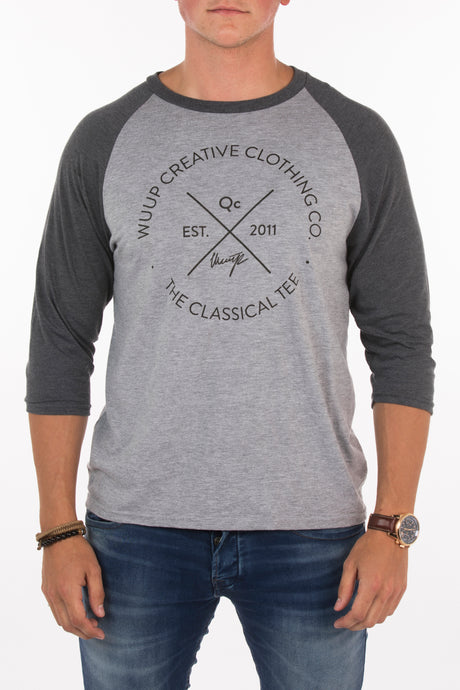 THE CLASSICAL RAGLAN TEE (GREY)