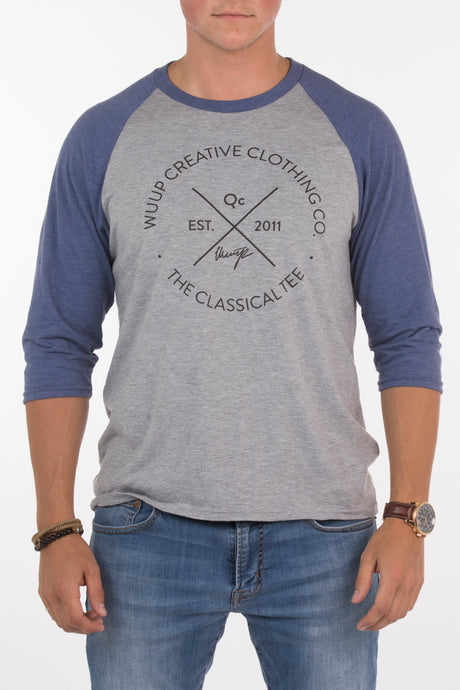 THE CLASSICAL RAGLAN TEE (BLUE)