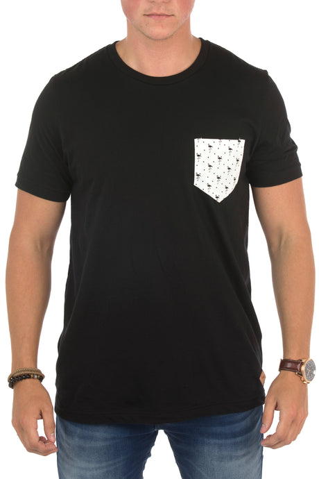 MODERN FLAMINGO POCKET TEE