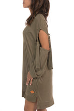 KHAKI OVERSIZED DRESS