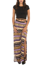 PURPLE LAYERED LONG SKIRT