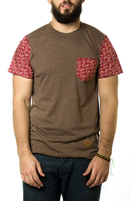 LEAF BRANCH BROWN SHIRT