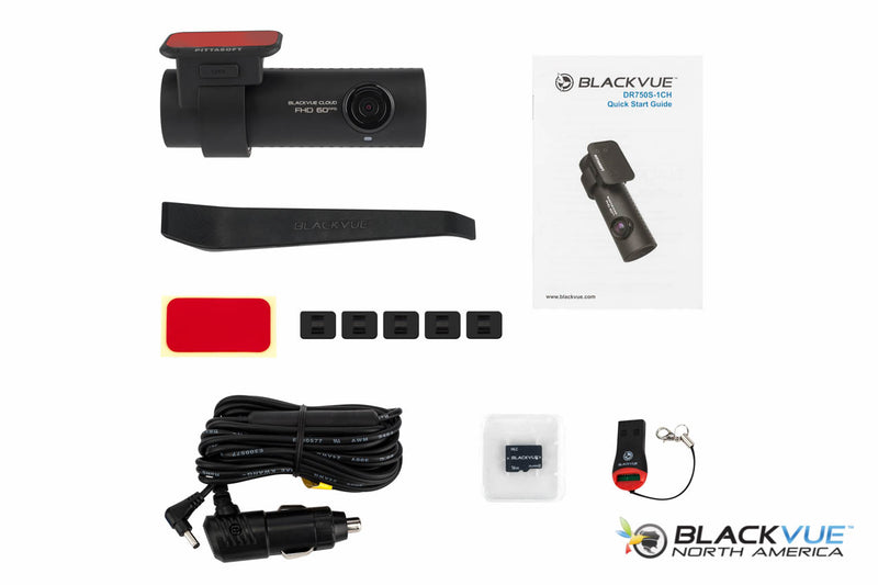 BlackVue DR750S-1CH Dash Cam | Retail Box Contents