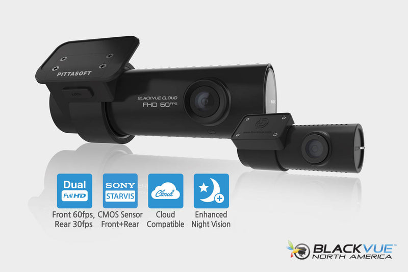 DR750S-2CH BlackVue Dual-Lens Dual 1080p Dashcam | For Front and Rear Audio and Video Recording