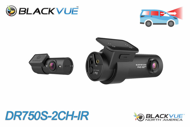 Dual Lens Dashcam with Inside-Facing Night Vision - DR750S-2CH-IR