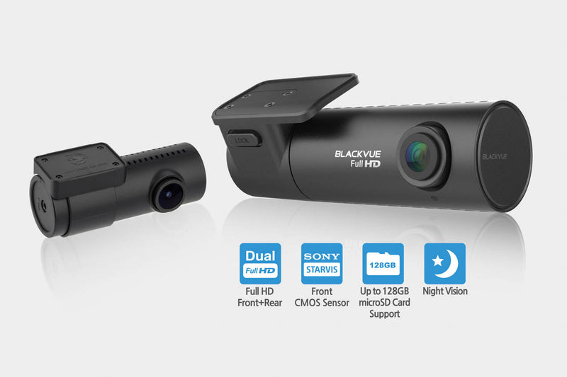 BlackVue DR590W-2CH-IR 1080p Dual-Lens Dashcam for Front and Inside Recording with WiFi