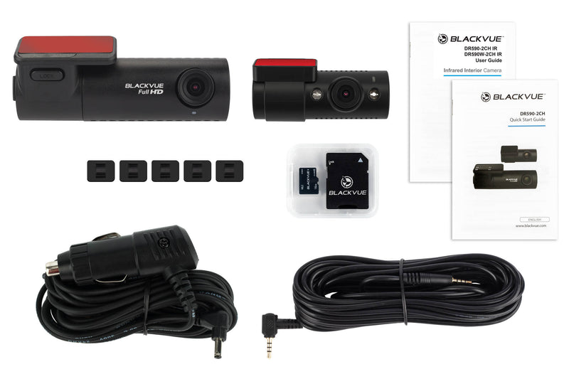 BlackVue DR590-2CH-IR 1080p Dual-Lens Dashcam for Front and Inside Recording
