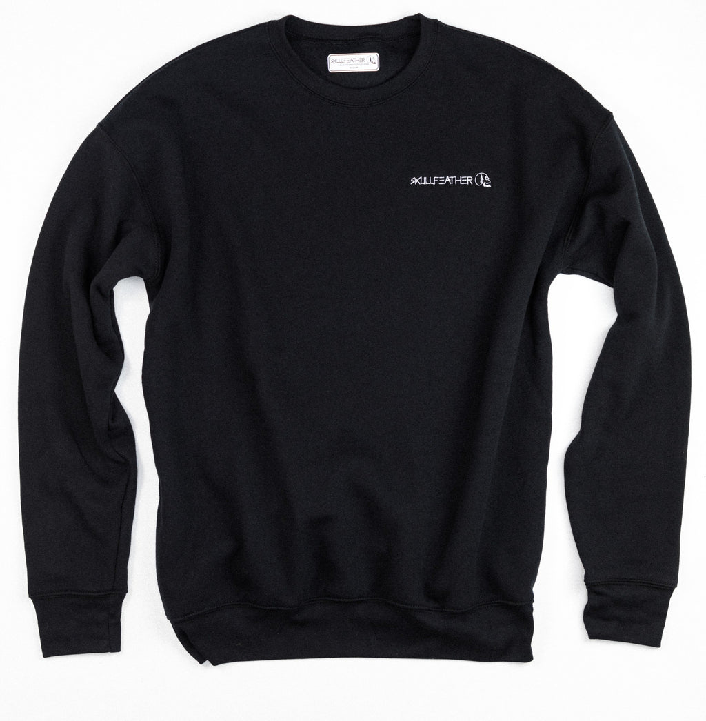 Skullfeather Wordmark Crewneck - Embroidered