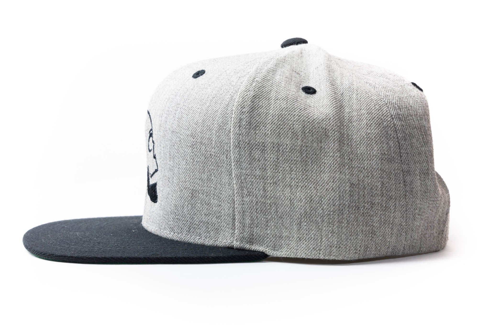 Skullfeather Snapback Hat - Embroidered