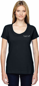 Women's Calligraphy Scoop Neck Tee