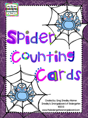 Spider Web Counting Cards FREEBIE!