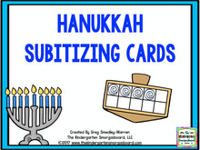 Hanukkah Subitizing Cards FREEBIE!