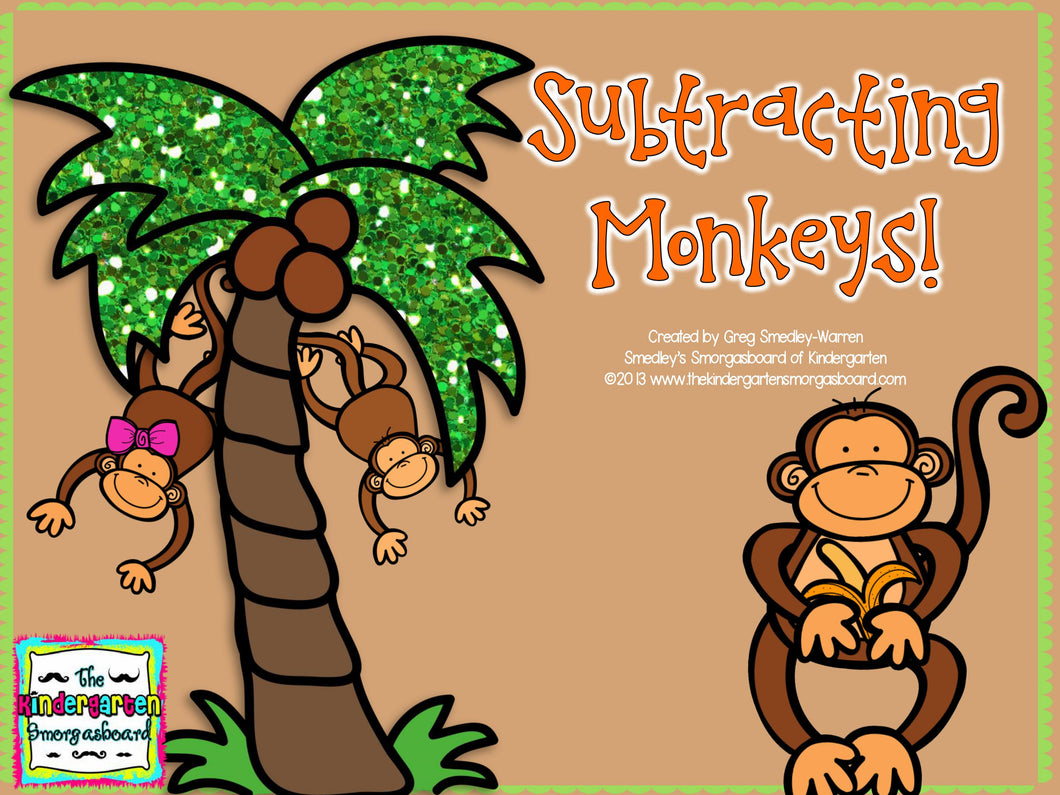 Subtracting Monkeys! Subtraction Freebie!