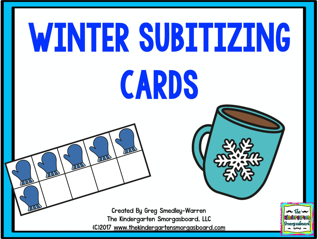 Winter Subitizing Cards