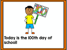 100th Day of School Emergent Reader
