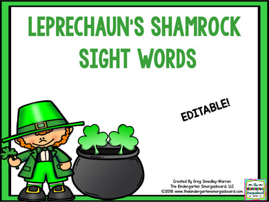 Leprechaun's Gold Editable Sight Words