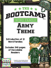Word Family Bootcamp (Army Theme)