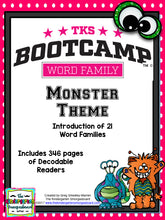 Word Family Bootcamp (Monster Theme)