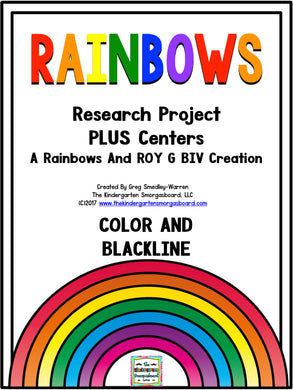 Rainbows: A Research and Writing Project PLUS Centers!