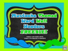 Mustache-Themed Word Wall Header FREEBIE!