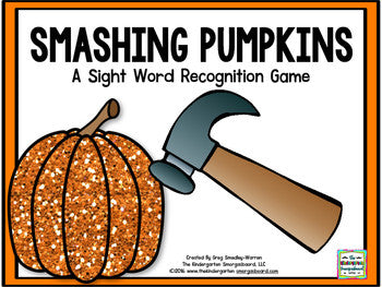 Smashing Pumpkins! Sight Words