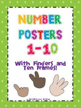 Number Posters 0-10 with Fingers and Ten Frames