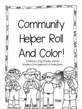 Community Helpers Roll and Color FREEBIE!