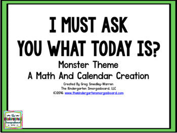 Calendar! I Must Ask You The Date: Monster Theme