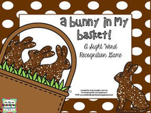 Easter Bunny Sight Words Game