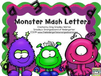 Monster Mash Letter Recognition FREEBIE!