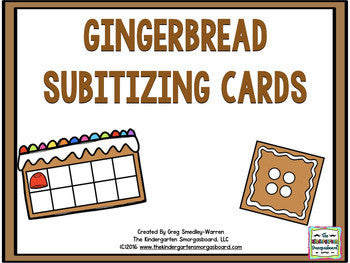 Math! Gingerbread Subitizing Cards FREEBIE!