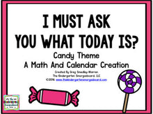 Calendar! I Must Ask You The Date: Candy Version
