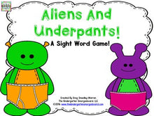 Aliens and Underpants: An Editable Sight Word Game