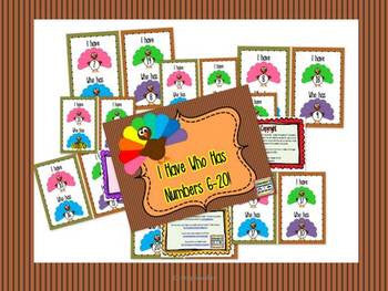 Turkey I Have, Who Has? for 6-20 FREEBIE!