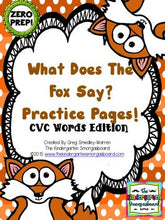 ZERO PREP! What Does The Fox Say CVC Practice Pages!