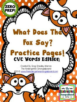 What Does the Fox Say? Zero-Prep CVC Practice Pages