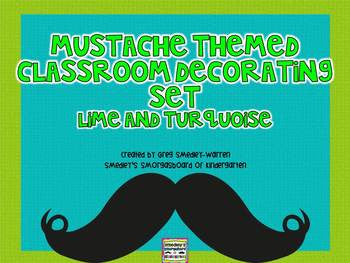 Mustache Themed Classroom Decorating Set!