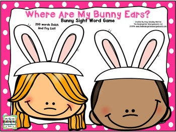 Easter Editable Sight Words Game
