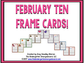 February Ten Frame Cards: Numbers And Counting Creation!