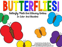 Butterflies! Math and Literacy Centers