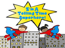 Telling Time Superhero: Hour and Half Hour