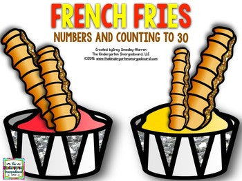 French Fries Numbers and Counting to 30!