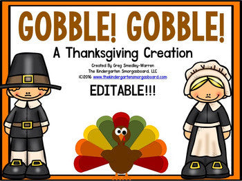 Thanksgiving! Gobble Gobble! A Math & Literacy Creation!