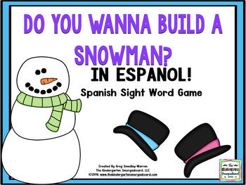 Snowman Sight Words Game: SPANISH Sight Words!