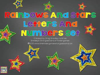 Rainbow and Stars Mini Decor Set