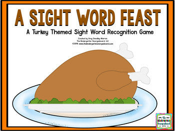 Turkey Sight Words Game