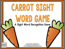 Carrots Editable Sight Word Game