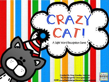 Crazy Cat Sight Words Game!