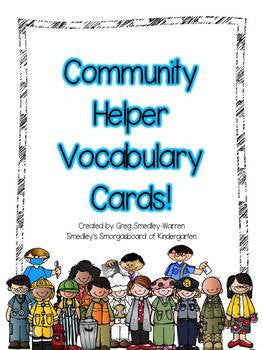 Community Helper Vocabulary Cards FREEBIE!